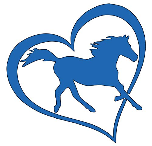 Home Grown Claremore Love Horses Vinyl Sticker Decal | Cars Trucks Laptop | 5.5 Inch Width X 5.5 Inch Height (Blue)