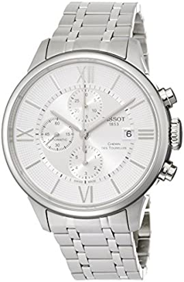 Tissot Men's T-Classic Swiss-Automatic Watch with Stainless-Steel Strap, Silver, 21 (Model: T0994271103800