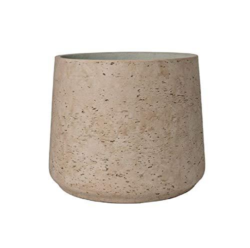 Grey Planter Washed Fiberstone indoor and outdoor Flower Pot 6
