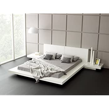 gamma modern platform bed with lights and storage seduce led lighting black this item night stands king glossy white sets