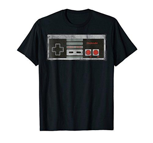 Nintendo NES Controller Retro 80s Graphic T-Shirt, 5 colors, Adults, Kids