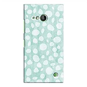 Cover It Up - Pebble Print Blue Lumia 730 Hard Case