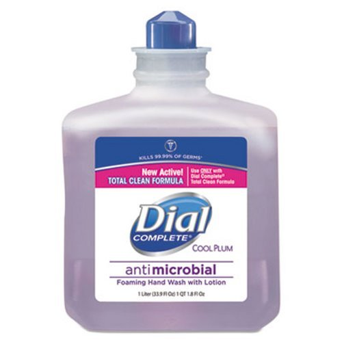 Dial Complete 81033CT Foaming Hand Wash Refill Cool Plum Scent 1000mL Bottle 4/Carton