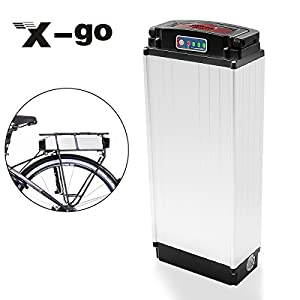 X-go 48V 20Ah 1000W Cell Holder Back Carrier Li-ion Battery for E-bike Electric Bicycle (With Lantern)