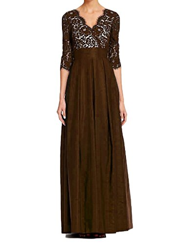 H.S.D Women's A Line Half Sleeves Long Chiffon Mother Of The Bride Dress