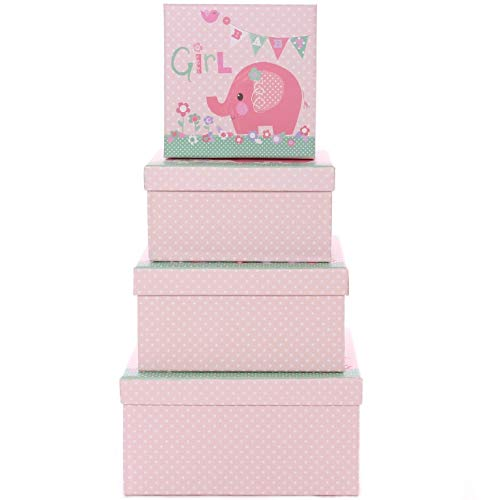 Johnson/'s Baby Girl Tower with Prosecco and Strawberry Creams