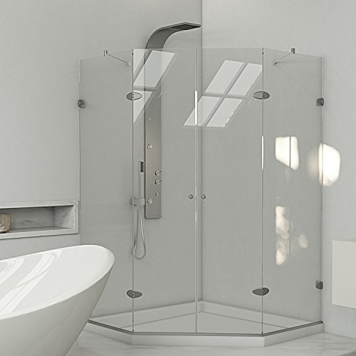"Vigo VG606347WS 47-5/8"" x 47-5/8"" Frameless Neo-Angle Shower Enclosure"