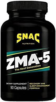 SNAC ZMA-5 with 5-HTP Recovery and Sleep Supplement that Supports a Healthy Immune System, 90 Capsules