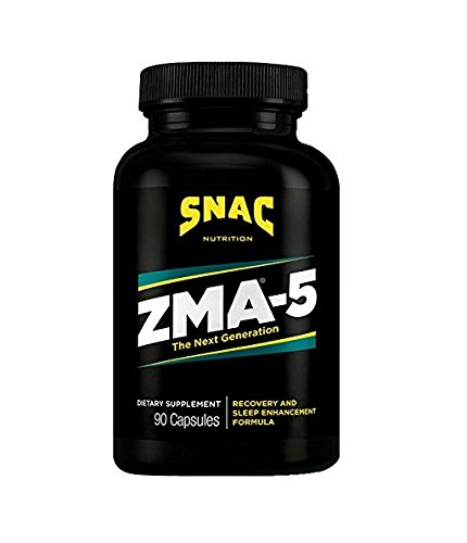 SNAC ZMA-5 with 5-HTP Recovery and Sleep Enhancement Formula, 90 Capsules