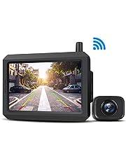 AUTO-VOX W7 Kabellos Digital Rückfahrkamera Set mit 12.7cm LCD-Monitor mit Antenne, eingebautem Funksender, Wireless Einparkhilfe,Wasserdicht IP68-Backup-AutoKamera, Nachtsicht für SUV,Van,KfZ