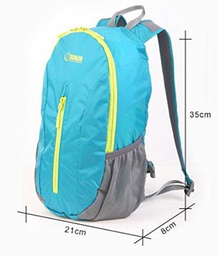 LIGHTING Outdoor borsa pieghevole / sacchetto di pelle / borsa a tracolla / 20L borsa-blu