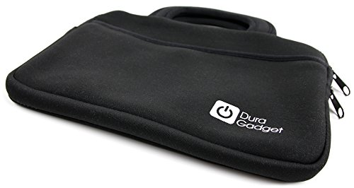 DURAGADGET Black Neoprene Water-Resistant Case for Storing Medical Equipment (Stethoscope/Sphygmomanometer) - with Front Storage Compartment and Carry Handle