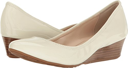 Cole Haan Women's Tali Luxe Wedge 40 Pump, Ivory Patent 8.5 B US ()