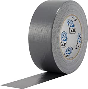 """ProTapes Pro Duct 100 PE-Coated Cloth Economy Duct Tape, 60 yds Length x 2"""" Width, Silver (Pack of 1)"""