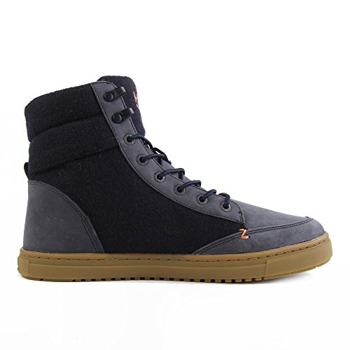 HUB Millennium High Leather Dark Navy Gum Blue