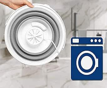 Portable Mini Turbo Washing Machine with Foldable Tub Ultrasonic Turbine Washer, USB Powered Mini Travel Laundry Washer, Mini Turbo Washer Suit for Camping Apartments Dorms