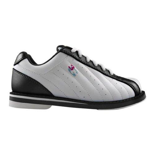 Die Kicks-Bowlingschuhe der Männer 3G Weiß schwarz