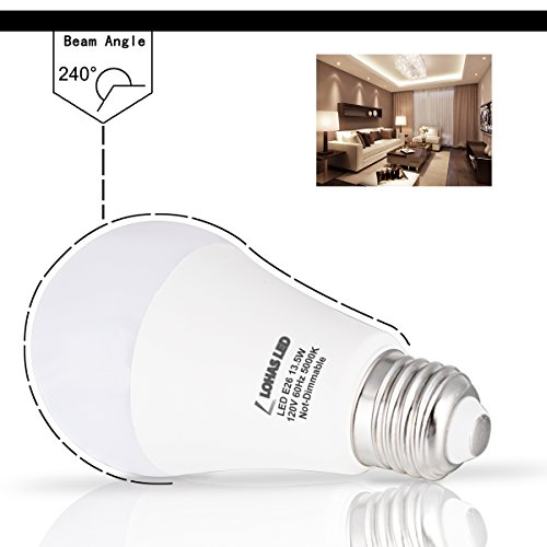 LOHAS LED Light Bulbs 100 Watt Equivalent, Daylight (5000K