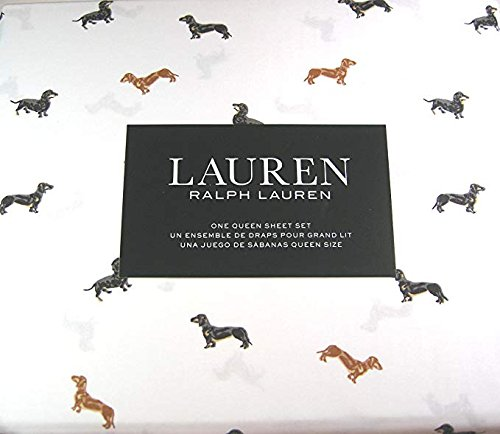 Ralph Lauren Dog - Lauren 4 Piece Queen Size Sheet Set Daschshund Dogs 100% Cotton