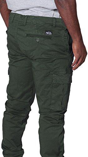 Genieße am niedrigsten Preis Top Marken Straßenpreis Ryujee Herren Cargohose - Grün Combat Hose mit vielen Tasche ...