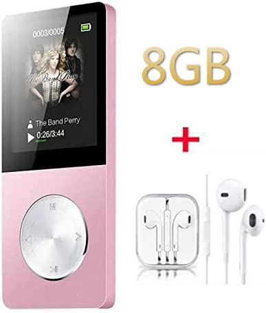 8 Go Portable Lossless MP3//MP4 lecteur de musique pour enfants adolescents adultes Hommes de fille-Rose Antcool R
