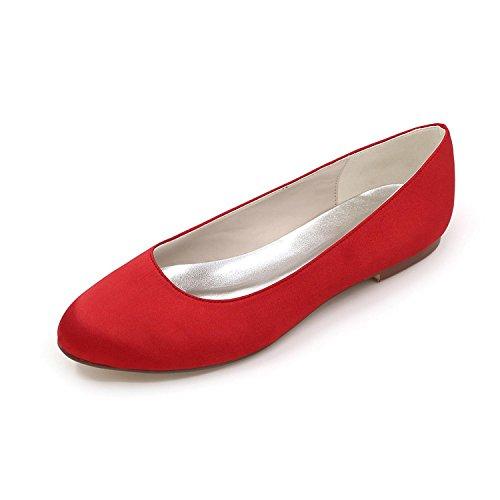 Yardas Cómodo yc De L Multi color Grandes Zapatos Apartamento Con Red Satén Mujeres Otoño Primavera Invierno Verano Boda UwxxYaq