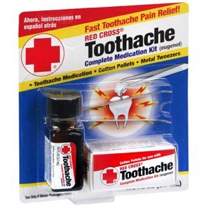 Special Pack of 5 RED Cross Toothache Outfits 1/8 oz