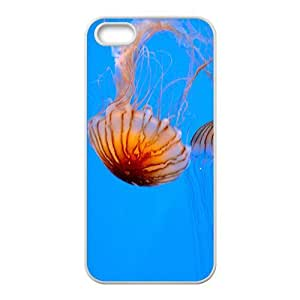 Peculiar Jellyfish Hight Quality Plastic Case for Iphone 5s
