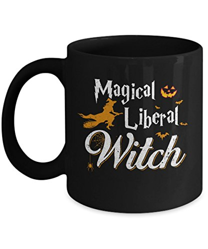 TeeCentury Magical Liberal Witch Happy Halloween Mug 11oz -