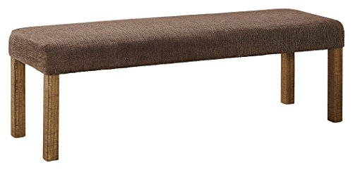 Signature Design by Ashley D714-00 Tamilo Dining Room Bench, Dark Brown (Upholstered Dining Table Bench)