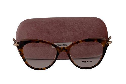 Miu Miu MU01QV Eyeglasses 50-17-140 Havana w/Demo Clear Lens VX81O1 MU 01QV VMU01QV VMU - Miu Spectacles Miu