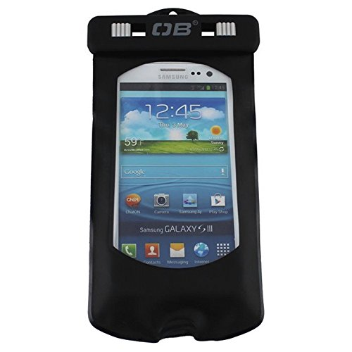 Overboard Waterproof Smart Phone Case, Black, Small
