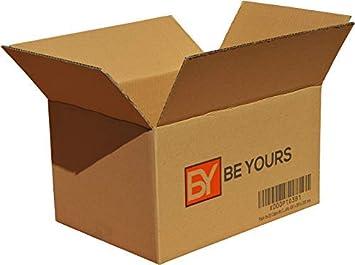 BeYours Pack de 10 Cartons avec poignées - 550 x 350 x 370 mm - DISPONIBLE EN TAILLES DIVERSES - Double Cannelure - Fabriquées en Europe - Cartons pour Déménagement, ECO-FRIENDLY