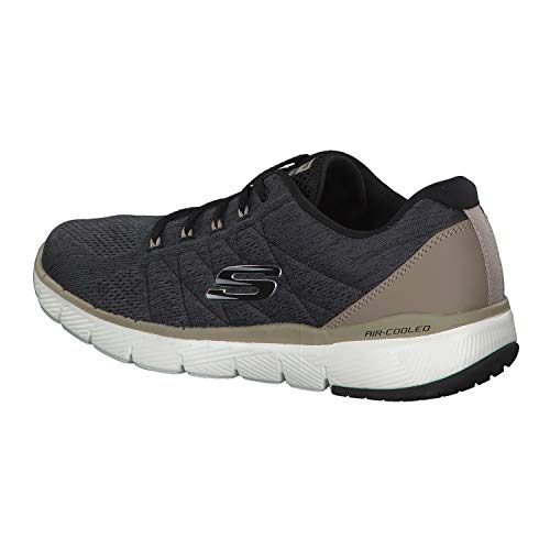 Negro Zapatillas Skechers Para 0 stally Flex Advantage 3 Hombre xwqZ68