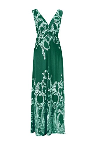 Patterned Anna Dress Casual a7 Holiday Green amp; Floral Jon Printed Paradise Women's 1gqgaT