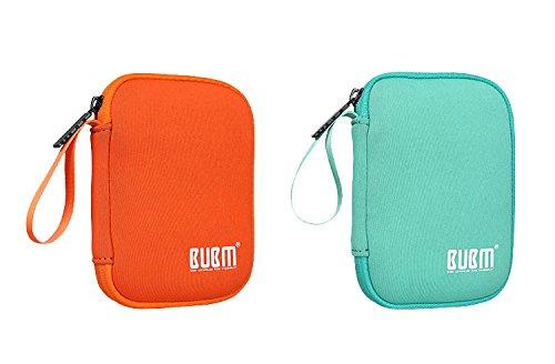 BUBM Enclosure 2.5'' USB 3.0 Hard Drive Bag Power Bank Portable Charge Travel Case, 5.9'', Powder Blue (QYD-S-01) by BUBM (Image #6)