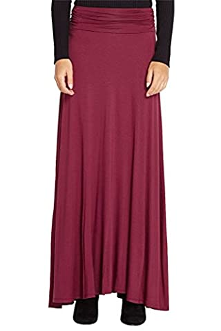 True Meaning Beautiful Women's Fashion Solid Jersey Knit Ruched Waist Comfy Maxi Stretch Soft Long Draped SSUrt USA - 9 Glasgow Long Body