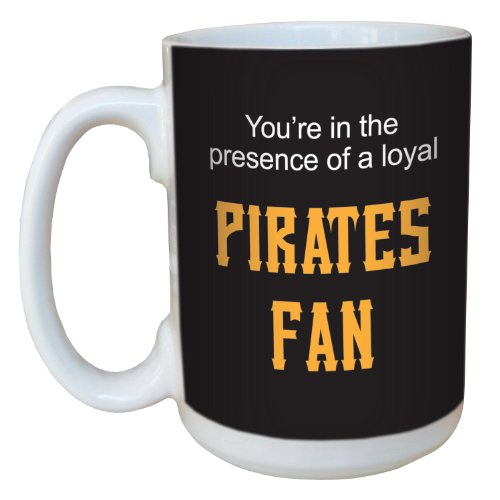 (Tree-Free Greetings lm44098 Pirates Baseball Fan Ceramic Mug with Full-Sized Handle, 15-Ounce)