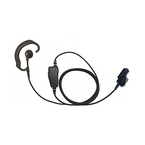 (Braided Fiber 1-Wire Ear Hook Earpiece and Microphone Headset Accessory for Motorola XTS 2500 MTS2000 MTX 8000 PR1500 Viking VP900 Two-Way Radios)