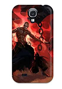 9674774K37359321 Warrior Anime Fashion Tpu S4 Case Cover For Galaxy