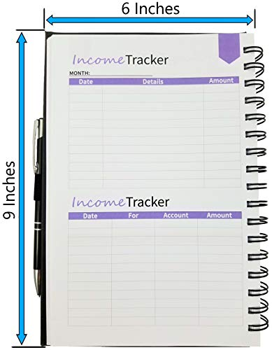 "Budget Planner (Non-Dated), Finance Journal, Expense Tracker, Accounts Book, and Bill Organizer - Monthly Budgeting Book Bundled with Cash Envelopes, Stickers, and a Pen - 9x6"" Size Black"