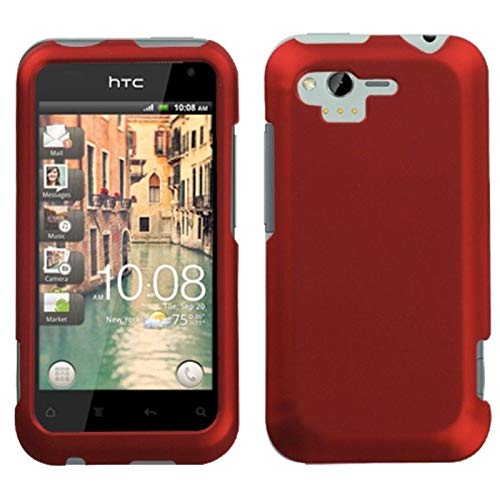 Insten Rubberized Hard Snap-in Case Cover Compatible with HTC Rhyme/Bliss, Red