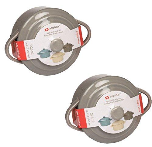 Cacerola 300 ml, apta para horno con tapa de cerámica para horno ...
