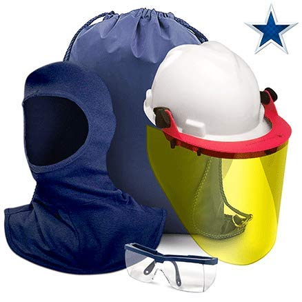 Safety Supply America Complete 8 Cal Arc Flash Face Shield Kit Made in USA by Safety Supply America