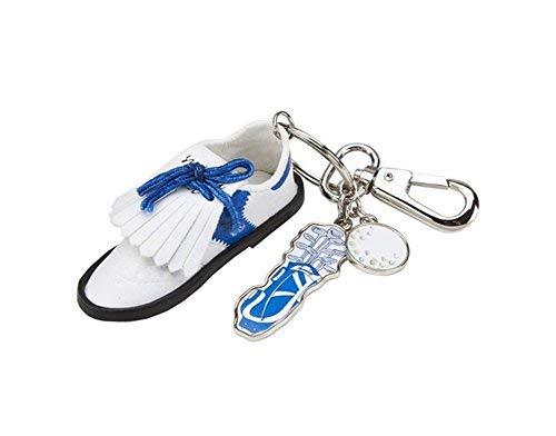 Sydney Love Sport Golf Shoe w Charms Keychain/Purse Charm, White/Blue from Sydney Love