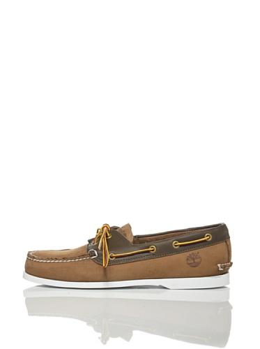 Timberland Brig 2Eye bateau en cuir pour hommes bateau chaussures Brown 6504A