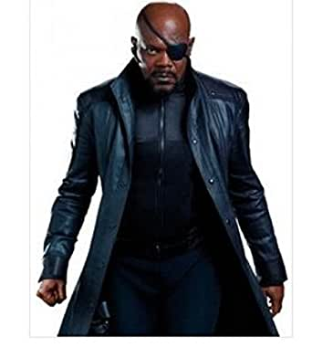 AVENGERS NICK FURY LEATHER COAT Captain America The Winter Soldier Nick Fury coat (X Small)