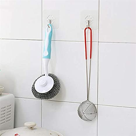 Amazon.com: DAVITU Storage Holders & Racks 6PCs Strong Transparent Suction Cup Sucker Wall Hooks Hanger for Kitchen Bathroom Accessories Wall Storage ...