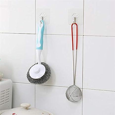 Amazon.com: DAVITU Storage Holders & Racks 6PCs Strong Transparent Suction Cup Sucker Wall Hooks Hanger for Kitchen Bathroom Accessories Wall Storage ...
