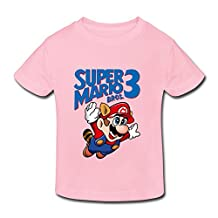Kids Toddler Super Mario Bros 3 Little Boys Girls Tee Shirt
